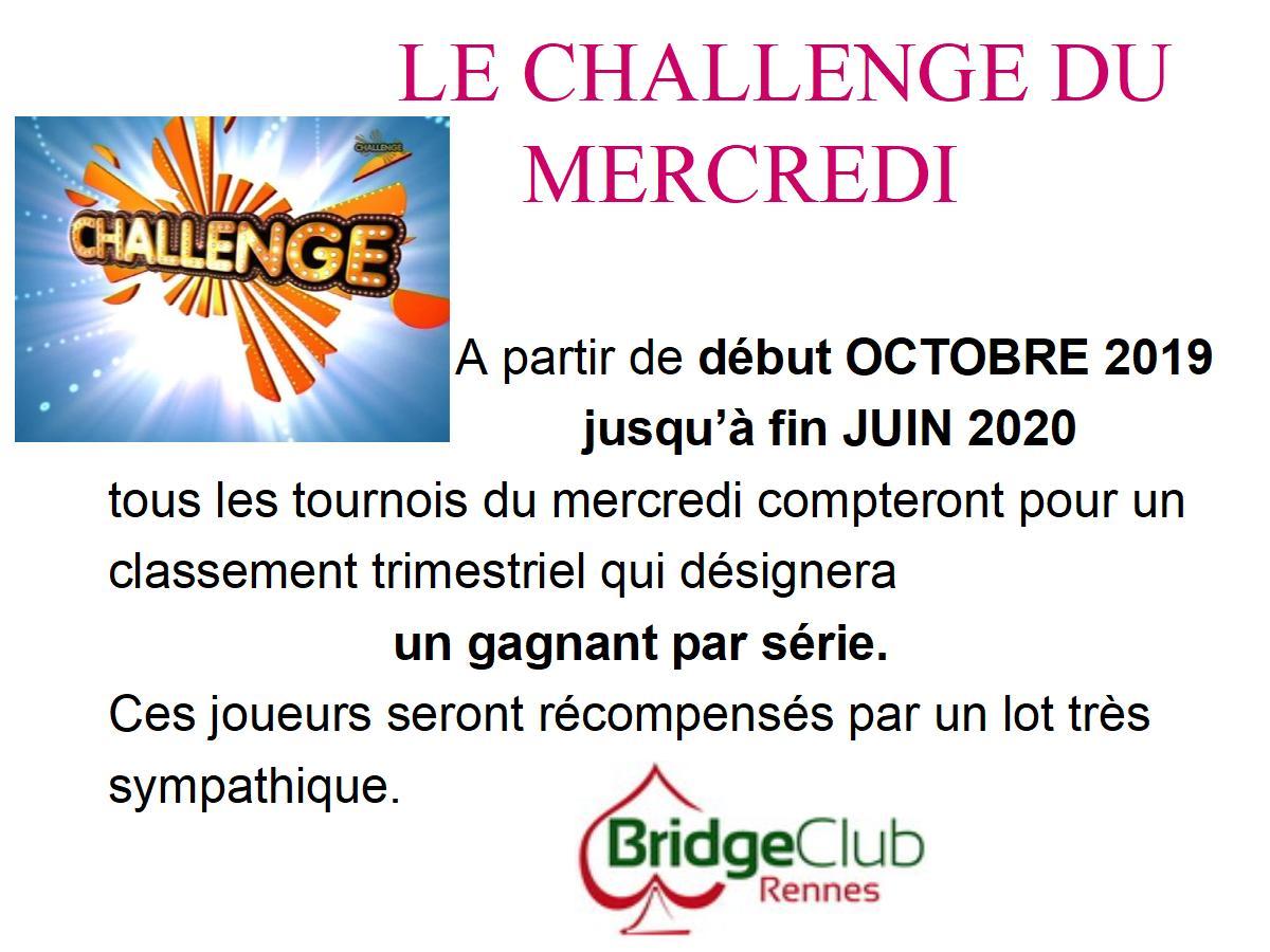 Affiche challenge mercredi