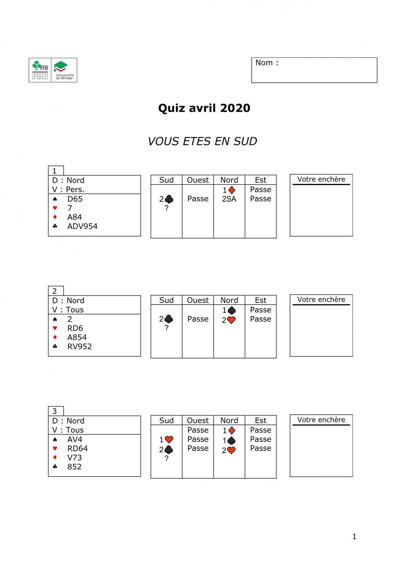 Formation continue des moniteurs quiz janvier 2020 001